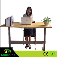 Electric adjustable height desk motorized