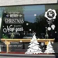 Customized Christmas window static cling sticker