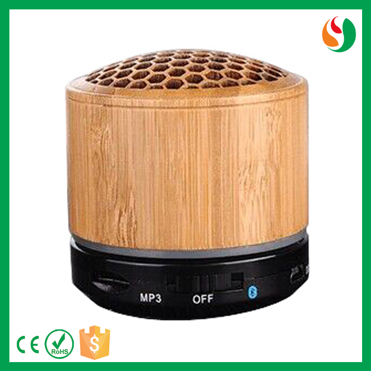 Portable high quality wooden wireless mini bluetooth speaker