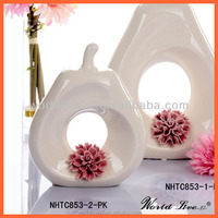 NHTC853-2-PK Wholesale Cheap Ceramic Pear ornament for Home Decoration