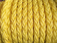 Yield strength 8strand 88mm polypropylene/pp plastic braided marine color rope