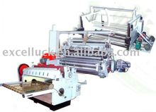 Single corrugated board production line