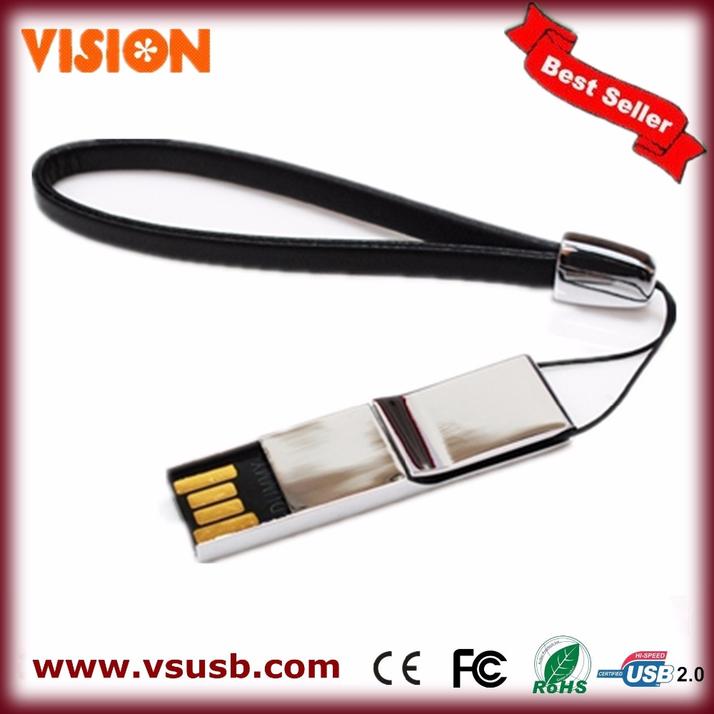 Mini metal USB drive disk, usb stick with lanyard