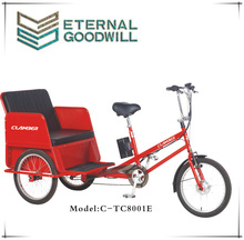 6 Speeds pedicab open taxi rickshaw/bicycle pedicab/electric passenger pedicab tricycle TC8001E pedal assist