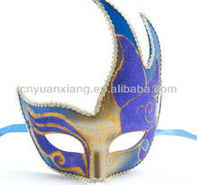 Venice mask printing spray coloured drawing or pattern edge corners mask masquerade mask female/Environmental protection plastic