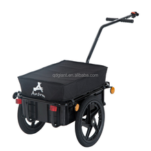 Bicycle trailer with cargo box