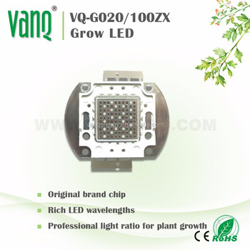 for plant grower!! high PAR light, 460nm 660nm, IR, UV Multichips grow LED 100w