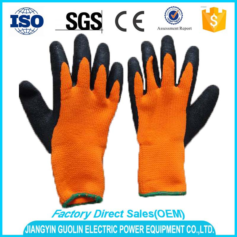 major European and American markets cheap latex coated work gloves wholesale