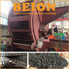 High capacity used tyre shredder / rubber crusher