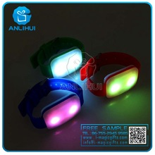 LED silicon colorful color changing remote control voice control bracelets, music concerts using armbands
