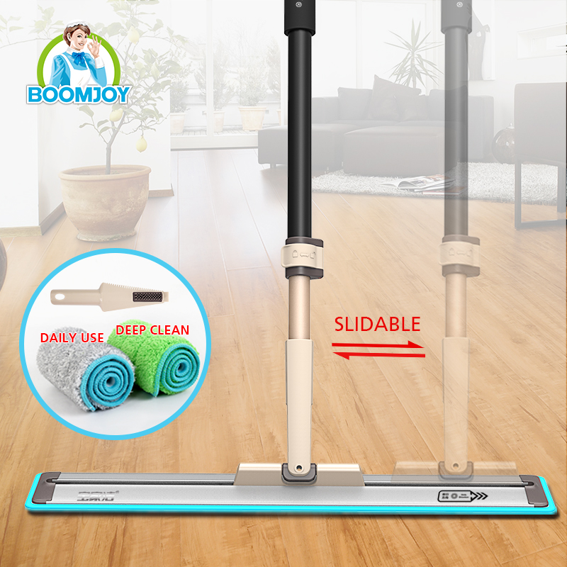 GREAT TELESCOPIC HANDLE FLAT MOP CLEANING MOP WITH 50CM EXTRA WIDE ALUMINUM PLATE 360 DEGREE SWIVEL SLIDABLE CONNECTOR