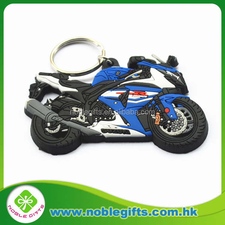 Personalized and High Quality Figure Custom OE M PVC Key chain and Competitive price factory produce motorcycle PVC keychain