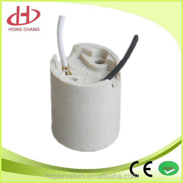 top quality e14 porcelain lamp socket lampholder with wire