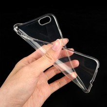 Ultra thin transparent TPU case for iphone6 / bulk stock soft TPU mobile phone case for iphone6 4.7 inch