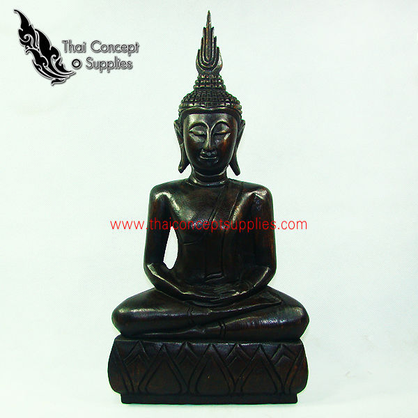 Wood Craft : Mini Buddha Statues Arts And Crafts Models - Thai Vintage Wood Carving For Home Decor