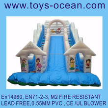 inflatable blue slide toys bouncy castles china