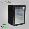 98L wholesale upright stand counter top ice cream store use mini freezer for sale