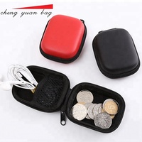 Hot sale pu eva pouch small waterproof earphone storage case