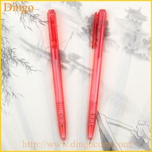 Popular And Elegant Pushed-action Promotional Plastic Ball Pen With Rubber