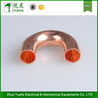 Customized tee 2016 China Free sample 16mm copper elbow pipe fitting