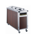 Commercial Three Holder Electric Plate Warmer Trolley Cart