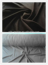100% silk double brushed velvet fabric
