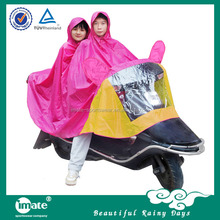 Film lightweight outdoor motorcycle poncho for two people