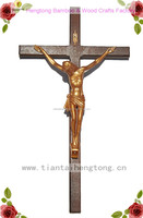 wooden wall cross, religious crucifix, cross with jesus statue