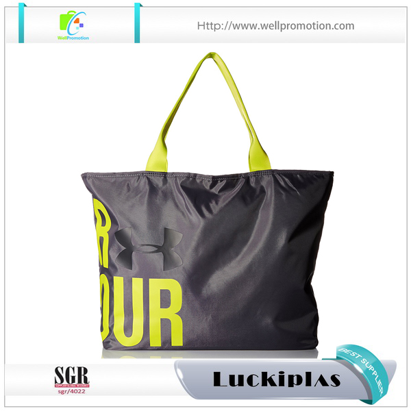 Custom women waterproof nylon shopping tote bag
