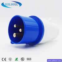 SEILSOUL Hot Sale SSL-023 series 16amps or 32amps 3Pin Male and Female industrial plug and industrial Socket