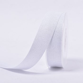 Reusable solid color new item silver purl Twill grosgrain ribbon for DIY gift bow