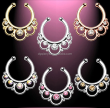 New septum Piercing Jewelry Faux Septum Ring brass faux septum