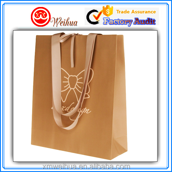 Top grade environmental Customized decorative coated paper women's gift shopping bags