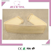 Natural Body cleaning Strip Belt Bath Two Side Back Loofah Luffa Sponge Body Shower Back Scrubber