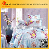 Hot selling bedding useful cotton flower printed home textile importers