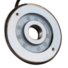 27w 12 volt rgb underwater luminaire ip68 ring dmx led fountain light