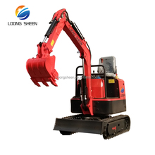 China Cheap Rubber Track Mini Crawler Excavator Type And Capacity 0.8 Ton 0.9 Ton