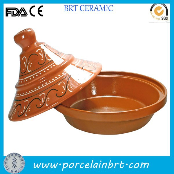 Wholesale orange large classical cheap Terracotta Tagin