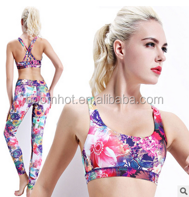 2017 new wholesale digital printing yoga fitness Sports Bra