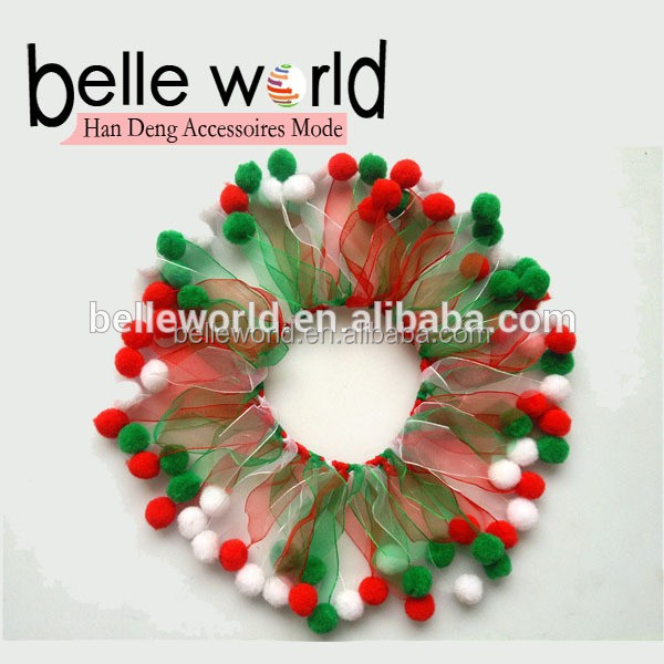 Professional Custom OEM Party Tulle Elastic Pet Dog Collars for Halloween Christmas Valentine's