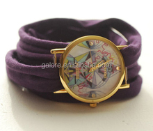 custom design stretch fabric all type of ladies fancy wrist watches