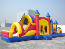 Durable inflatable obstacle course bounce house,used commercial combo bounce inflatable for sale B5016