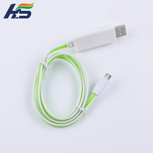 Hot cell phone charging cable for iphone 5 6 7 8 X phone led charging cables