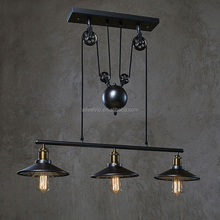 Lift system retro design metal art deco vintage industrial antique chandelier