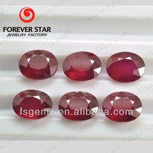 Wholesale Oval Shape Precious Ruby Stone Glass Filled Ruby Prices