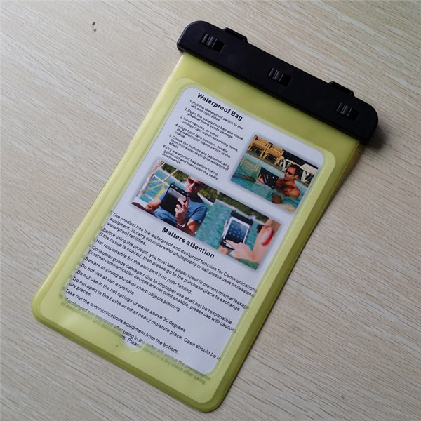 China supplier yellow pvc Tablet waterproof case for Lenovo tablet A5000(16GB) for swimming