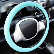 car accessory 13 inch anime silicone black and red luxury steering wheel cover