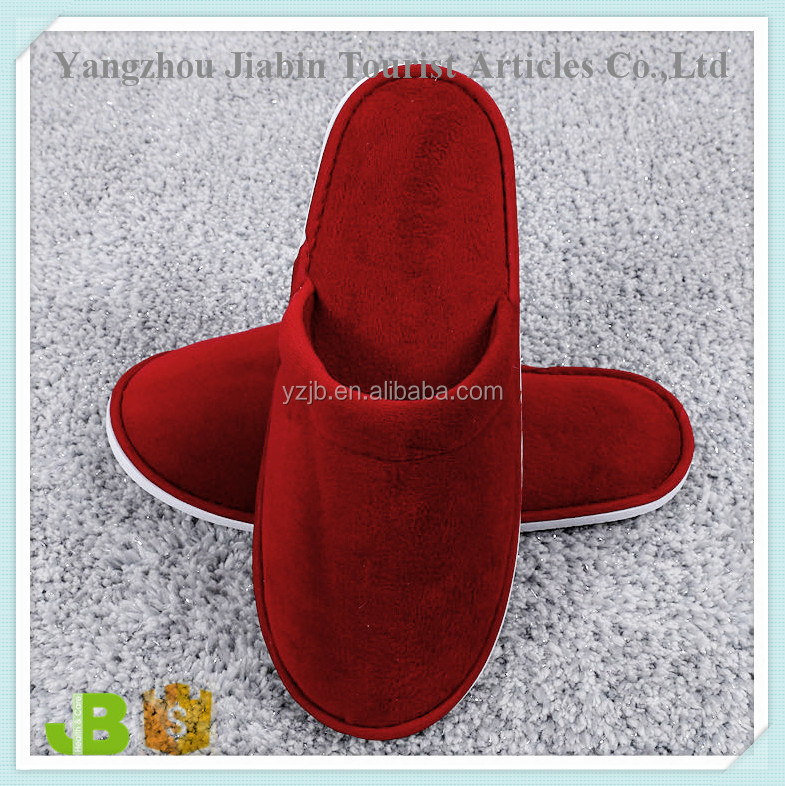 Beauty Red Disposable Slippers for Wedding with EVA Sole