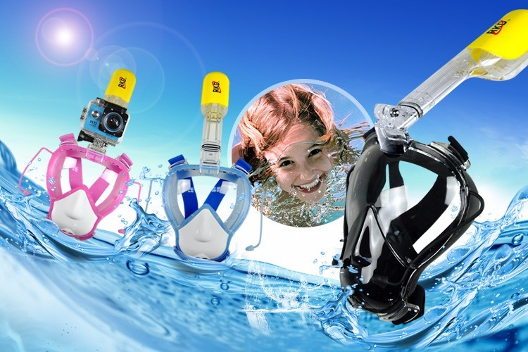 Top selling 2018 full face snorkel mask 180 degree scuba diving equipment