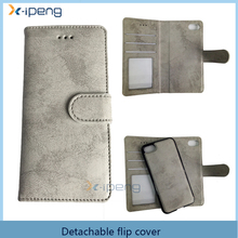 OEM Size best selling detachable Magnetic Leather wallet phone case Flip full cover for samsung galaxy S8 PLUS with card slots